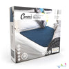 Conni Mate Washable Bed Pad with Waterproof Barrier teal blue packaging