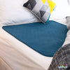 Conni Mate Washable Bed Pad with Waterproof Barrier Teal Blue