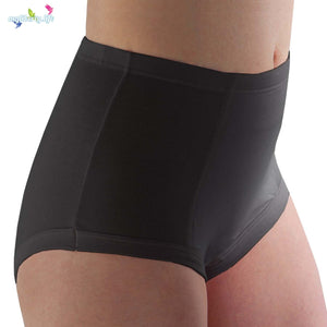 Reusable washable absorbent underwear for women from Conni Classic style in Black