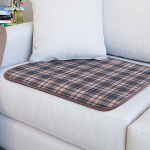 Conni Chair Pad with waterproof barrier - tartan, large