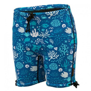 Washable incontinence protection Swim Shorts for kids in Ocean Blue
