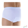 Wearever Washable Men's Briefs for bladder leak protection - Moderate Absorbency: Absorbs up to 10 ounces - back view