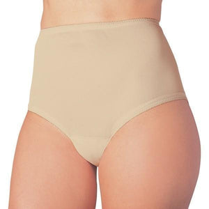 Wearever Canada Women's Cotton Comfort Panties - washable absorbent leak control underwear - slight absorbency, holds up to 5 oz, bladder leak protection, beige front view