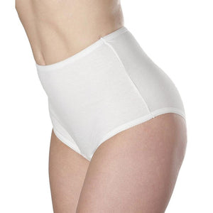 Wearever Canada Women's Cotton Comfort Panties - washable absorbent leak control underwear - slight absorbency, holds up to 5 oz, bladder leak protection, white side view
