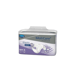 MoliCare® Premium Elastic Adult Diaper in Small Brief for Incontinence, front packaging