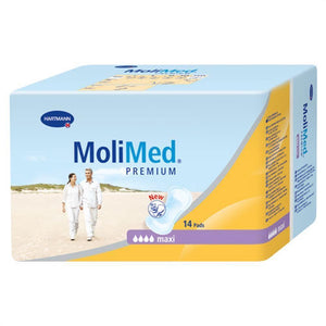 Molimed Premium Pad with light to moderate absorbency bladder protection pad for incontinence, maxi packaging