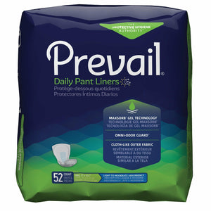 Prevail Pant Liners: Unisex, Disposable Incontinence Pads for bladder leak protection - packaging