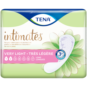 TENA Intimates Pads - Disposable Bladder Leak Protection Pads Designed for Women, Very Light Liners Long packaging - formerly TENA Very Light Panty Liners