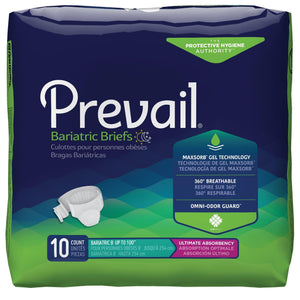 "Prevail Specialty Sized Briefs - Bariatric Adult Diapers - B size fits up to 100"" waist package front"
