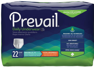 Prevail Protective Pull-on Disposable Underwear - Extra Absorbency Youth / Small package front