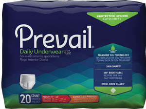 Prevail Protective Pull-on Disposable Underwear - Extra Absorbency Medium package front