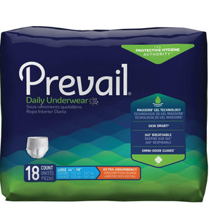 Prevail Protective Pull-on Disposable Underwear - Extra Absorbency Large package front