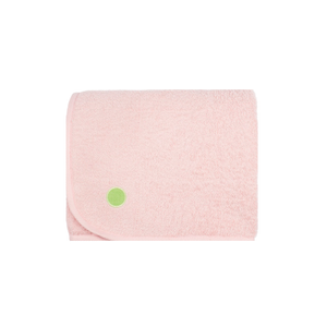 PeapodMats Washable & Reusable Waterproof Bed Wetting Incontinence Mat Fuzzy Peach Pink folded