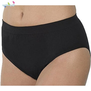 Wearever Canada Washable Women's Light Absorbency Seamless Underwear: Absorbs up to 3 ounces in Black