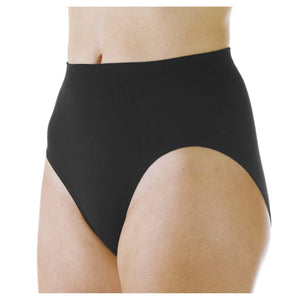Wearever Canada Women's washable absorbent leak control underwear; Light Absorbency 3 oz capacity bladder leak protection, front view black