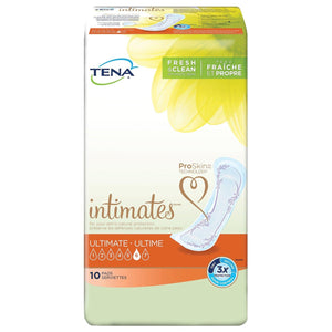TENA Intimates Pads: Ultimate packaging - disposable bladder leak protection pads designed for women