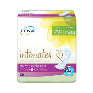 TENA Intimates Pads: Maximum (previously Heavy) Long packaging - disposable bladder leak protection pads designed for women, 39 pack