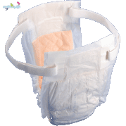 Tranquility® Adjustable Adult Diaper with Elastic Belts