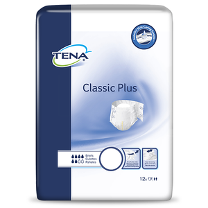 TENA Classic Plus adult disposable incontinence diapers - front packaging