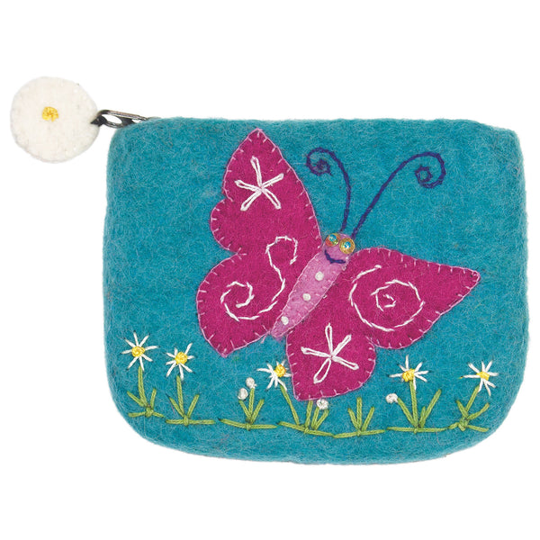 Felt Coin Purse - Magical Butterfly - Wild Woolies (P)