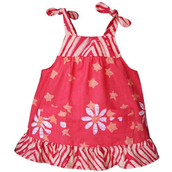 Baby Pocket Dress Papaya Daisy Star - Global Mamas (B)