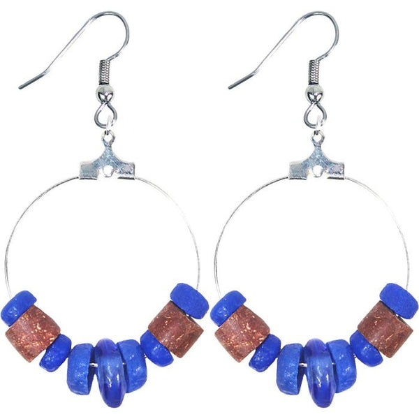 Down to Earth Earrings Blue - Global Mamas