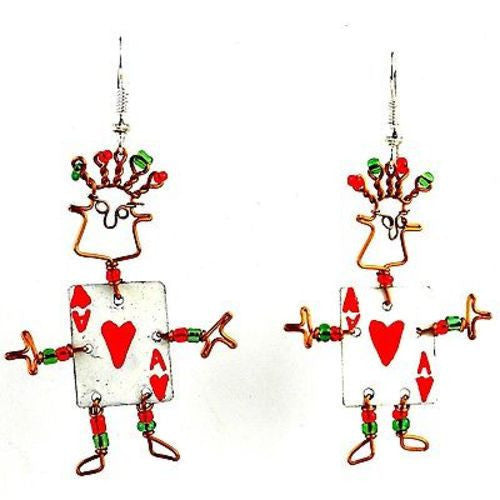 Dancing Girl Card Player Earrings - Creative Alternatives