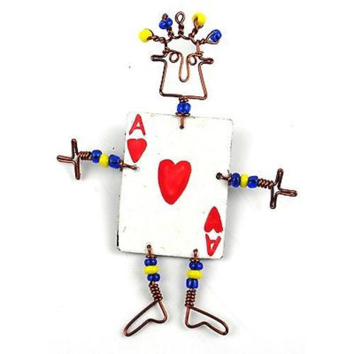 Dancing Girl Card Player Pin - Creative Alternatives