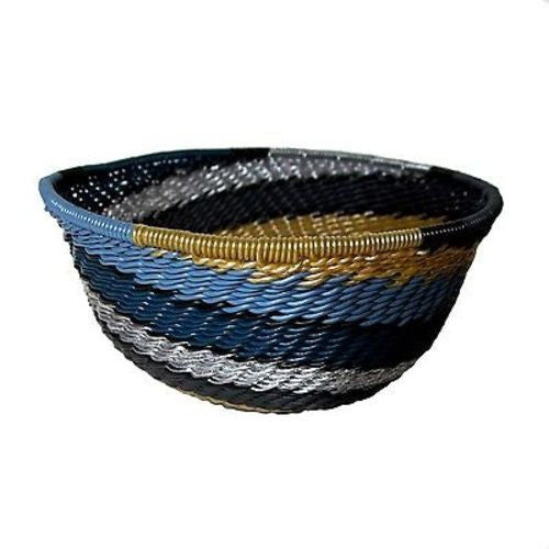 Handcrafted Recycled Telephone Wire Bowl - Galaxy - South Africa