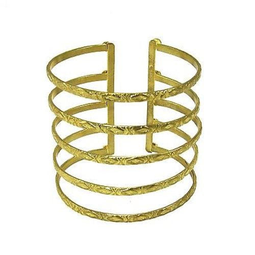 Goldtone Baroque Cuff - WorldFinds