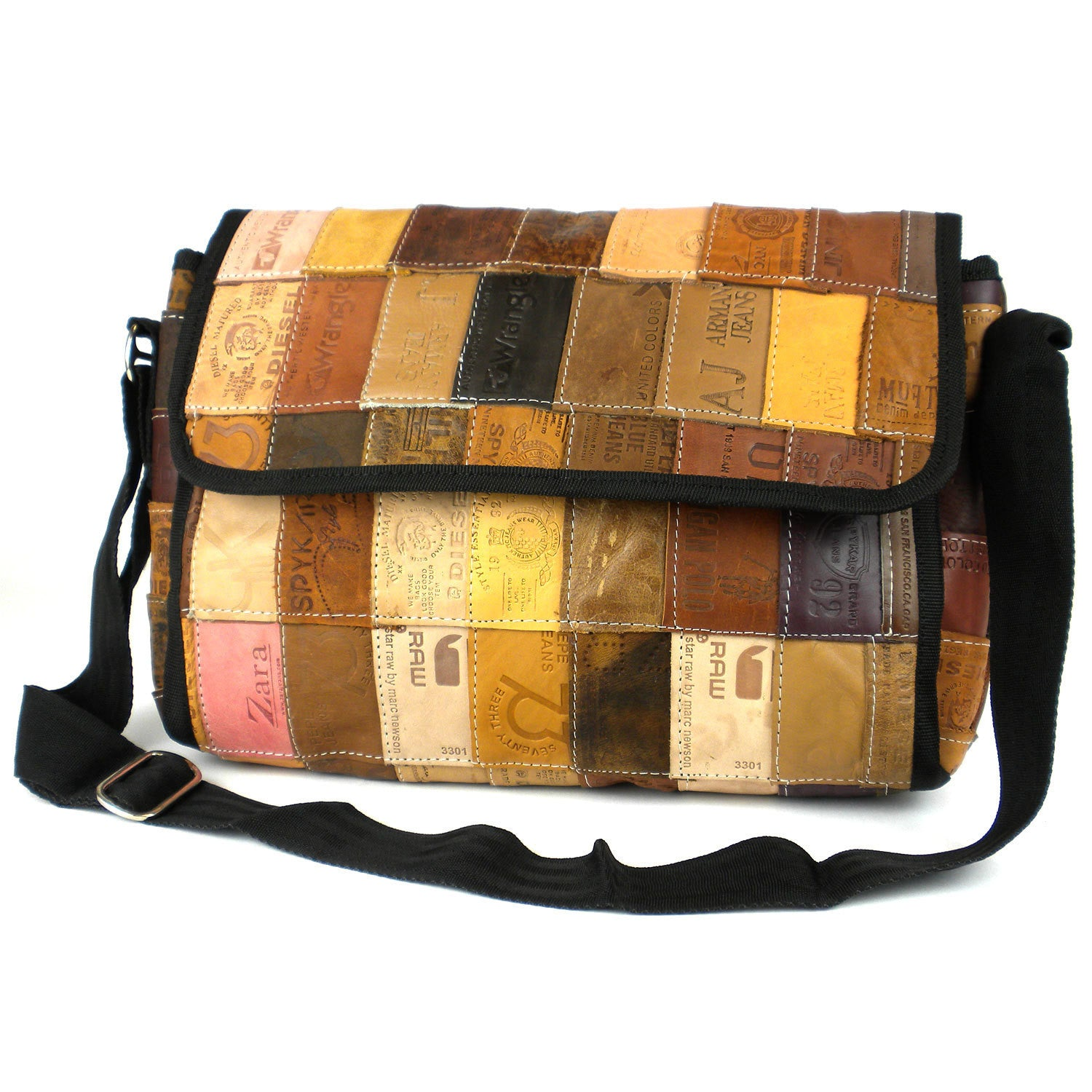 Handbag made in Nepal. Fair Trade Handcrafted Wood Handle Purse