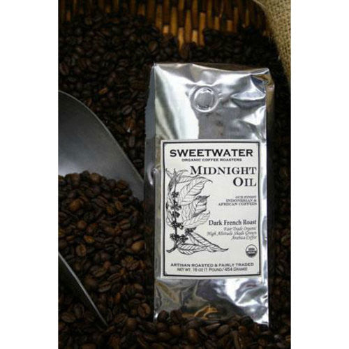 Midnight Oil Organic Coffee 12oz Beans - Sweetwater Coffee