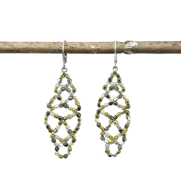 Metallic Lattice Earrings - WorldFinds