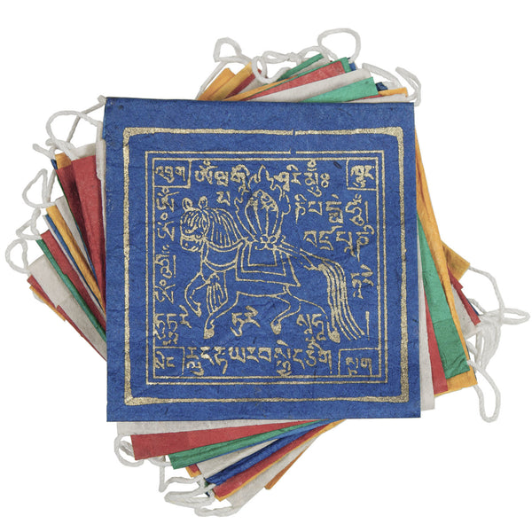 Paper Prayer Flag Windhorse 8 ft long - Tibet Collection
