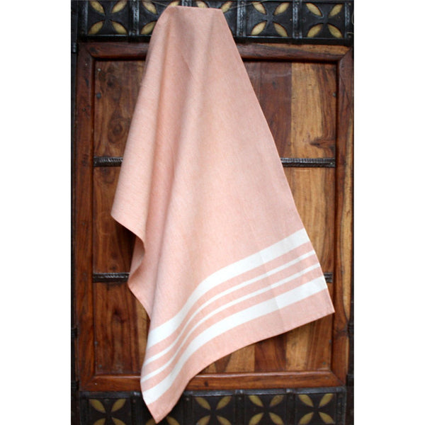 Peach Cotton Kitchen Towel - Sustainable Threads (L)