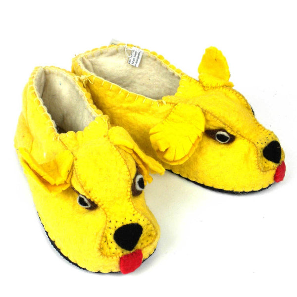 Golden Retriever Slippers Adult - Silk Road Bazaar