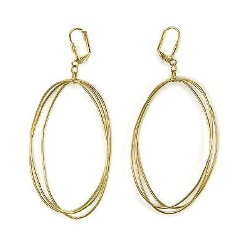 Edie Triple Oval Earrings in Goldtone - WorldFinds