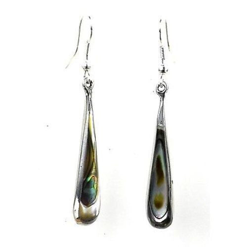 Abalone Long Teardrop Earrings - Artisana