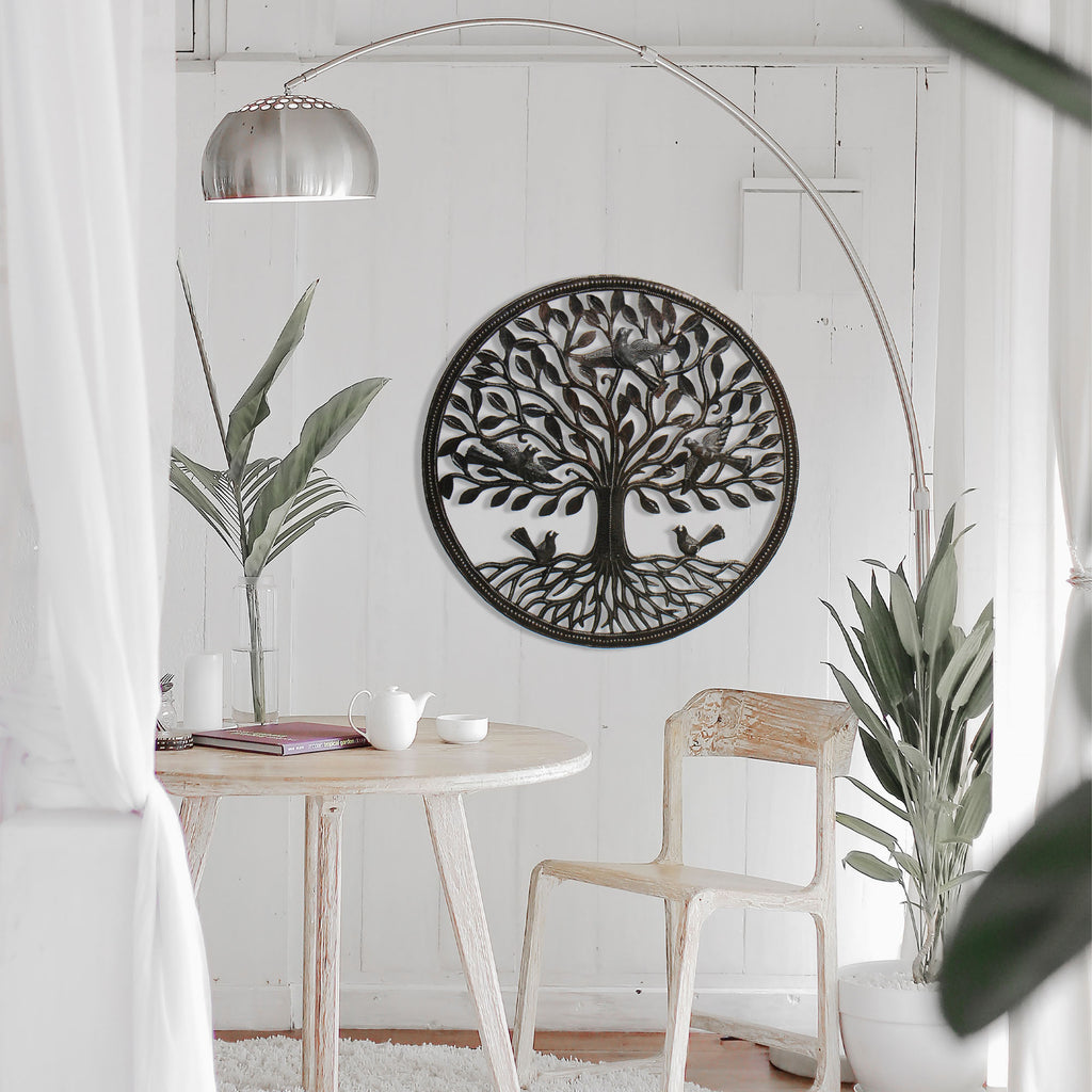 Birds on Roots Tree of Life Wall Art - Croix des Bouquets