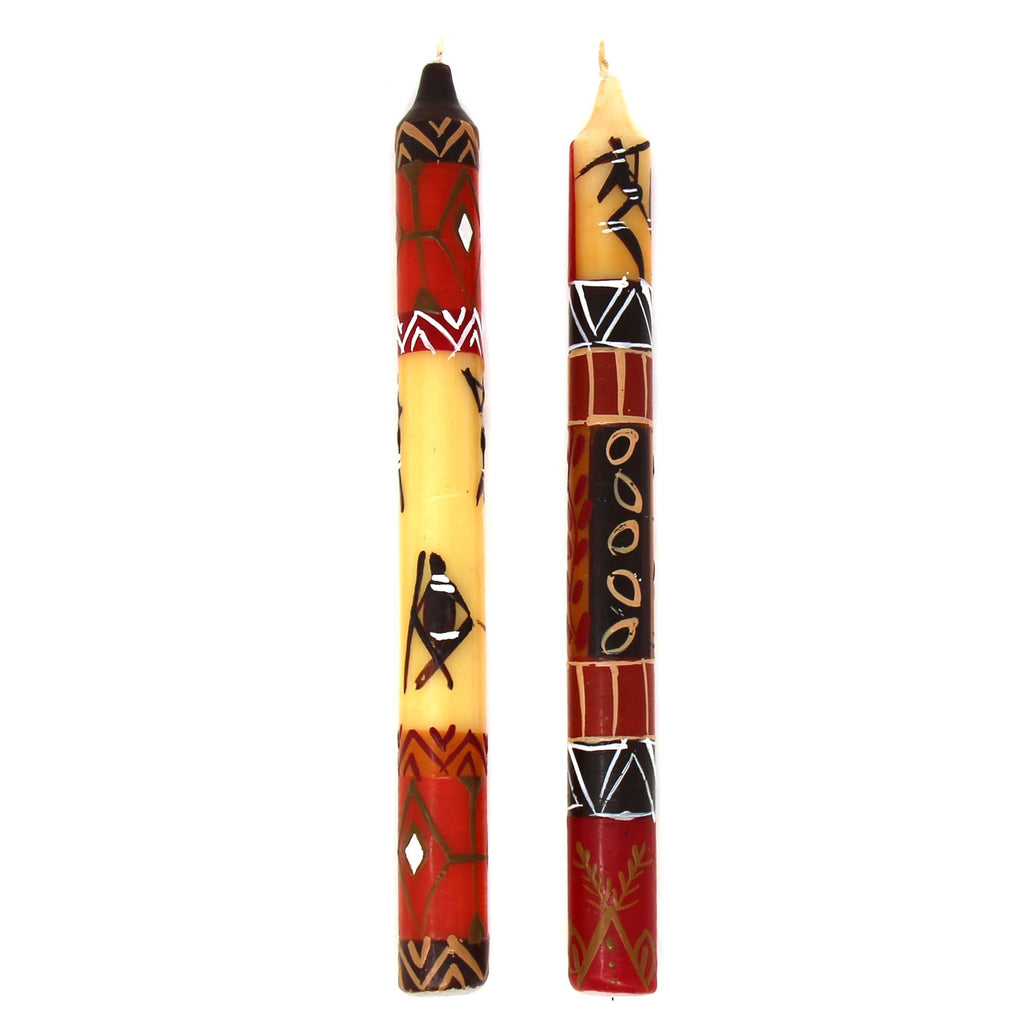 Tall Hand Painted Candles - Pair - Damisi Design - Nobunto