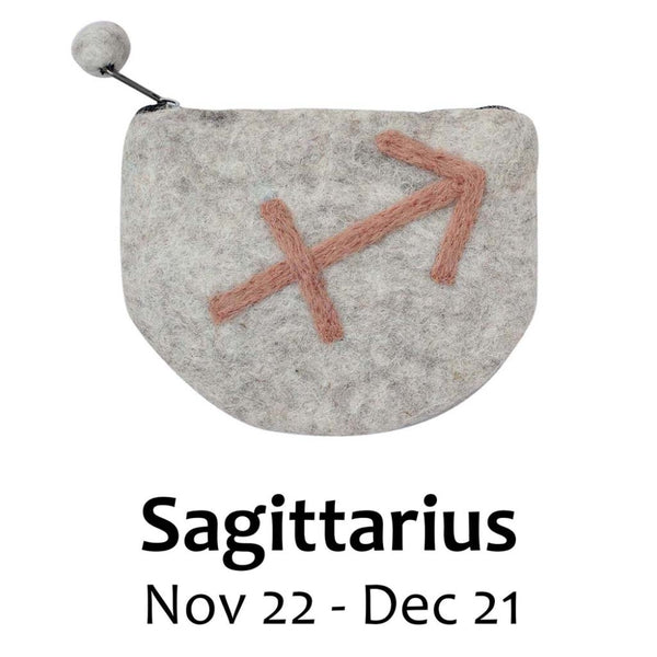 Felt Sagittarius Zodiac Coin Purse - Global Groove