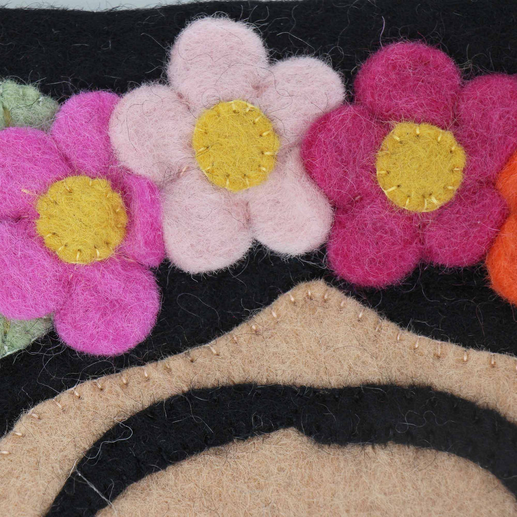 Hand Crafted Felt: Frida Pouch