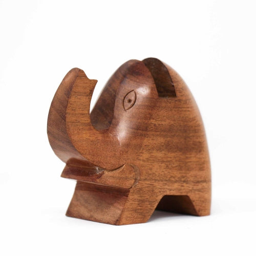 Elephant Eyeglass Acacia Wood Stand