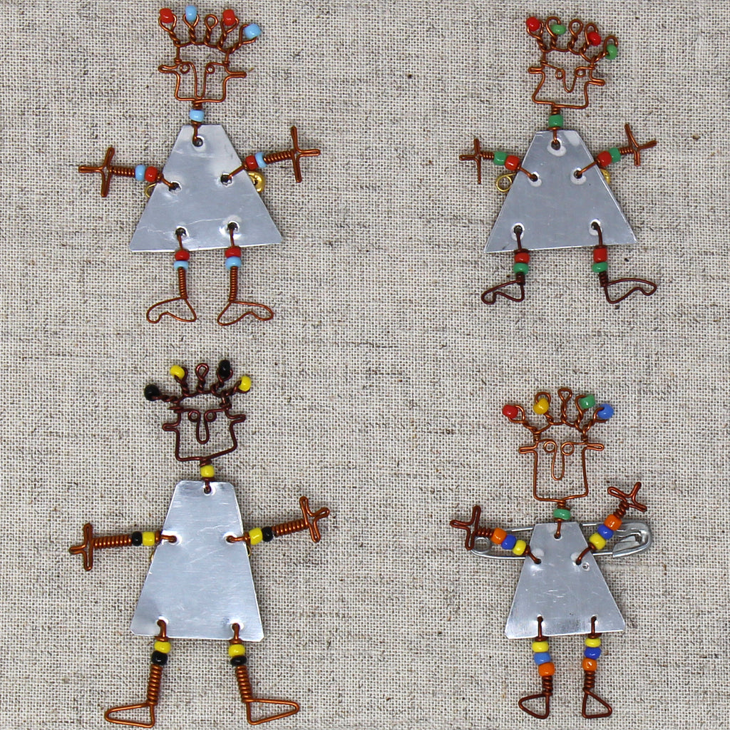 Set of 10 Dancing Pins with Maasai Beads