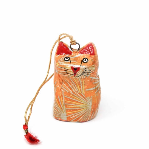 Handpainted Ornament Cat Figurine - Pack of 3
