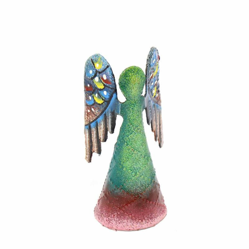 Painted Steel Drum Angel - 4 Inch - Croix des Bouquets (H)