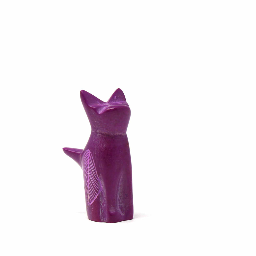 Soapstone Tiny Sitting Cats - Assorted Pack of 5 Colors
