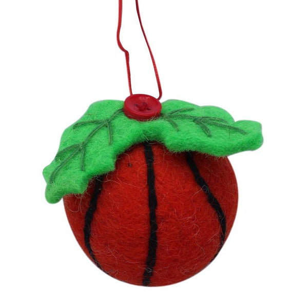 Basketball Felt Ornament - Global Groove (H)