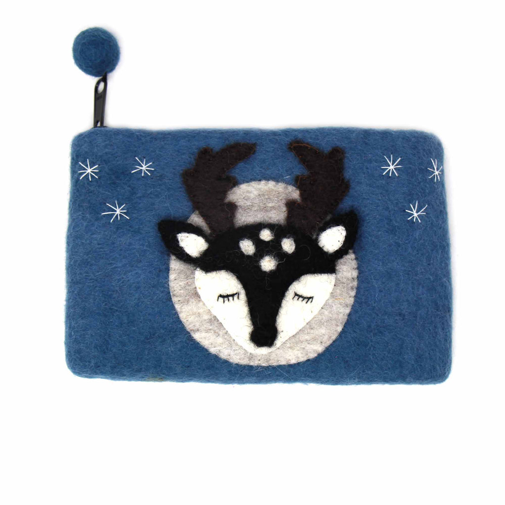Hand Crafted Felt: Stag Pouch