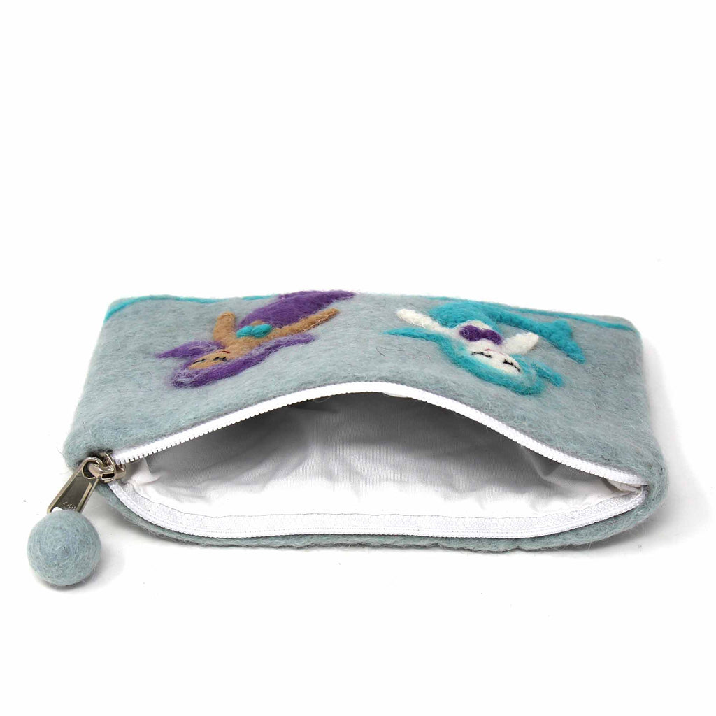 Hand Crafted Felt: Mermaid Pouch